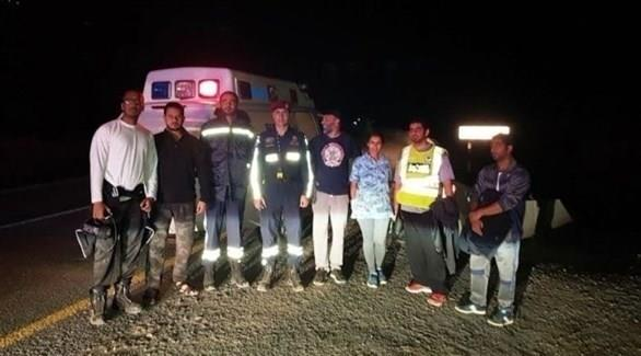 """رسالة """"واتس آب"""" تساعد في إنقاذ زوجين ضلا الطريق في منطقة جبلية بالإمارات (صورة)"""